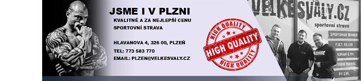 Obchod se sportovní stravou v Plzni